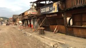 JAMA, MANABI, ECUADOR:  DEVASTADO POR EL TERREMOTO.